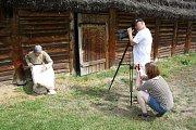 V archeoparku v Chotěbuzi vznikají didaktická videa, která budou součástí připravované expozice.