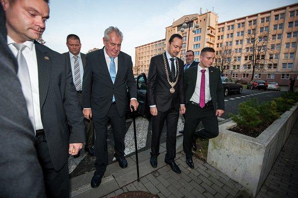 Prezident Miloš Zeman na návštěvě Havířova.