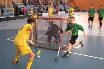 Florbalový turnaj dětských domovů v Havířově.