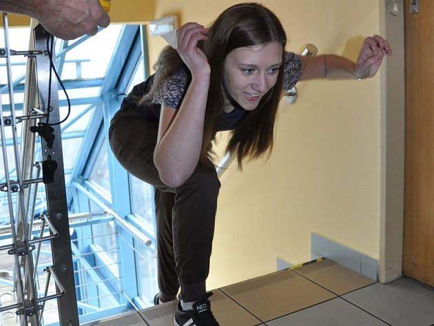 Běh do schodů bohumínské věže.