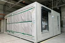 Karvinská hornická nemocnice bude mít nový pavilon sestavených z kontejnerů. Vizualizace KHN a foto Tomáš Canibal