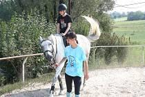 Návštěva koňského ranče v Albrechticích spojená s projížďkou i prohídkou stájí byla jednou z parádních akcí tábora pro děti z karvinských pěstounských rodin.