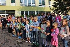 Také do Základní školy v Albrechticích nastoupili noví prvňáčci.