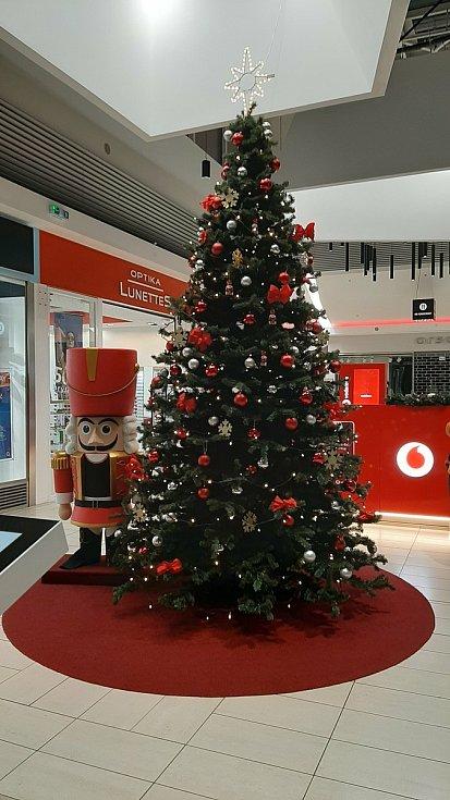 Vánoční výzdoba v Karviné. U obchodního centra Korso.