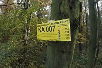 Jeden ze záchranných bodů v lesích na Karvinsku. Tento je na pomezí Havířova, Karviné a Orlové.