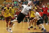 Karvinští házenkáři si v minulém kole extraligy poradili doma s pražskou Duklou (31:20). V sobotu od 18 hodin přivítají na své palubovce SKKP Handball Brno.