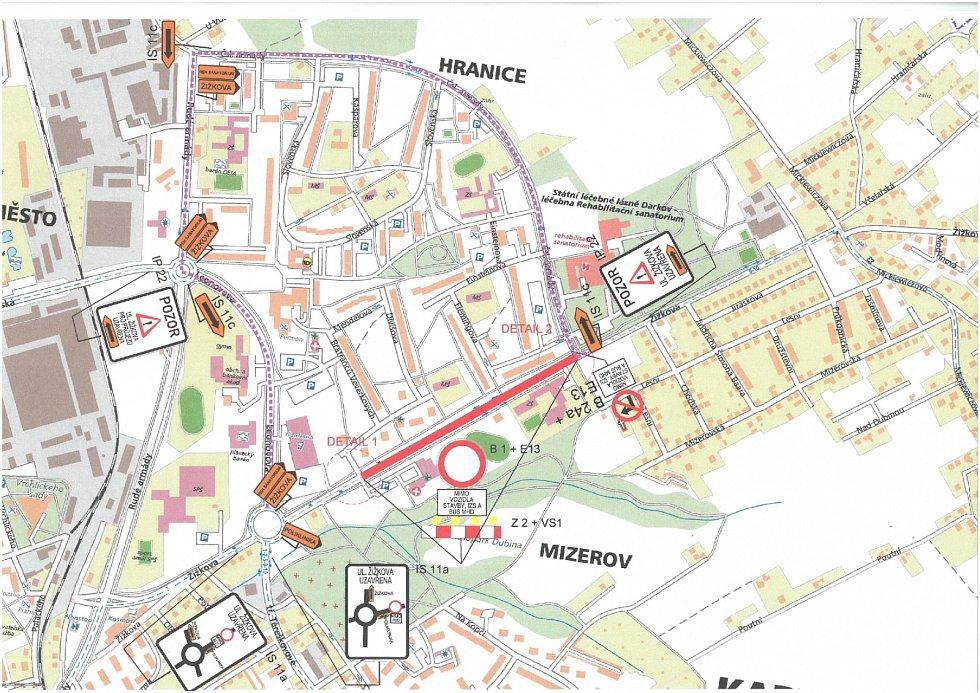 Na uzavírku velké části Žižkovy ulice v Karviné-Hranicích se musí od 20. srpna připravit šoféři z města i okolí. Ulice, která patří k hlavním dopravním tepnám města, bude od odbočky k poliklinice po odbočku k lázním uzavřena.