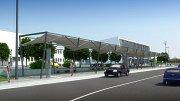 Návrh prostoru před havířovskou železniční stanicí. Varianta 1.