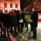 Jan Palach - 50 LET - uctění památky v Karviné na Univerzitním náměstí 16. ledna 2019 v Karviné.