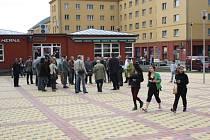 Rekonstruované náměstí TGM v Havířově-Šumbarku.