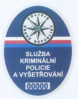 Odznak kriminální policie.