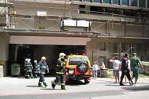 Zásah hasičů u OD Permon v Havířově.
