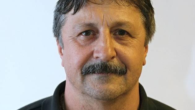 Trenér Baníku Jaroslav Hudeček.