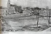 Orlovské náměstí z doby před 1. světovou válkou.
