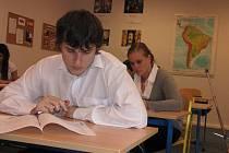 Studenti havířovské střední školy si vyzkoušeli státní maturitu