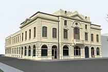 Na počítačovém snímku je podoba Národního domu, jak by měl vypadat po rekonstrukci.