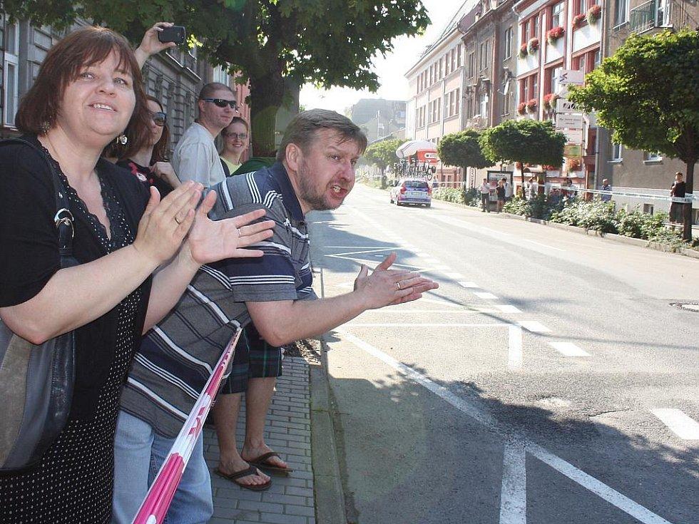 Tour de Pologne po přejezdu hranice z polského do Českého Těšína