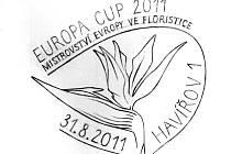 Poštovní razítko s motivem floristického mistrovství
