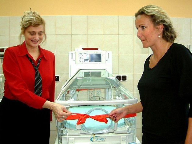 tuhu společně odstranily ředitelka nemocnice Věra Kovářová a jednatelka nadace Kapka naděje Vendula Svobodová.