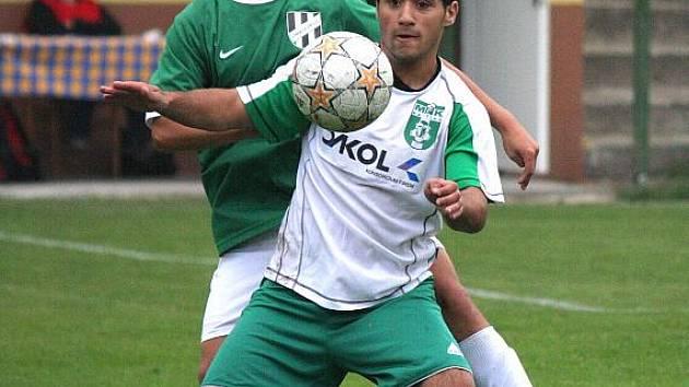 Zdeněk Jaworski (v bílém) pomýšlí už na svou účast v prvním týmu mužů.
