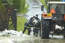 Velká voda v Petrovicích u Karviné