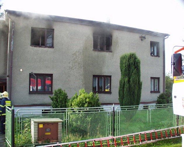 Požár domku v Bohumíně