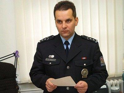 Okresní policejní ředitel Martin Hrinko.