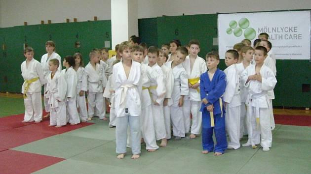 Téměř šedesátka malých judistů změřila síly na Májovém turnaji v judu benjamínků, který pořádal MSK Judo Karviná.