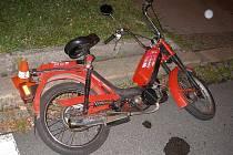 Havarovaný moped