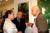 Vernisáž výstavy obrazů Ivana Mládka a Terezy Dolanské
