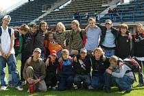 Družstvo mladších žáků Startu, které vybojovalo titul Moravy a Slezska.
