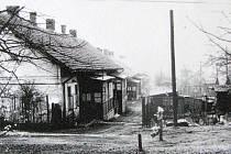 Historická fotografie hornické kolonie