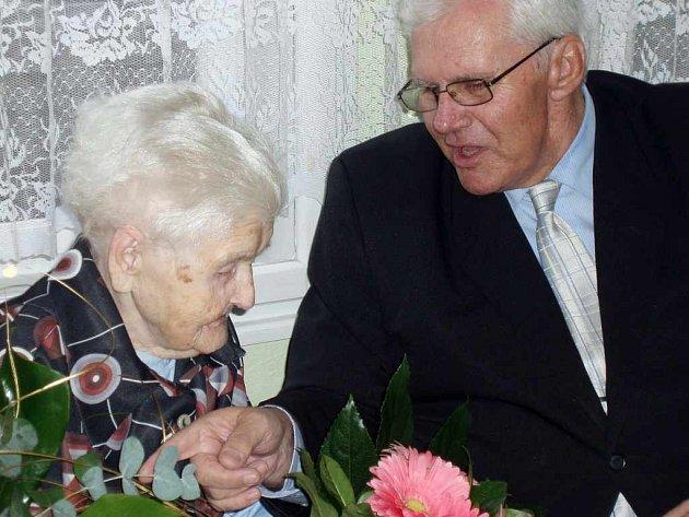 Emilie Ryšková oslavila 101 let.