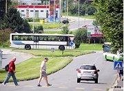 Dopravní situace na rekonstruovaném kruhovém objezdu