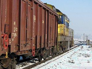 Nákladní vlak. Ilustrační foto