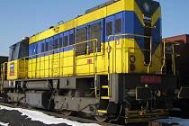 Lokomotiva nákladního vlaku. Ilustrační foto