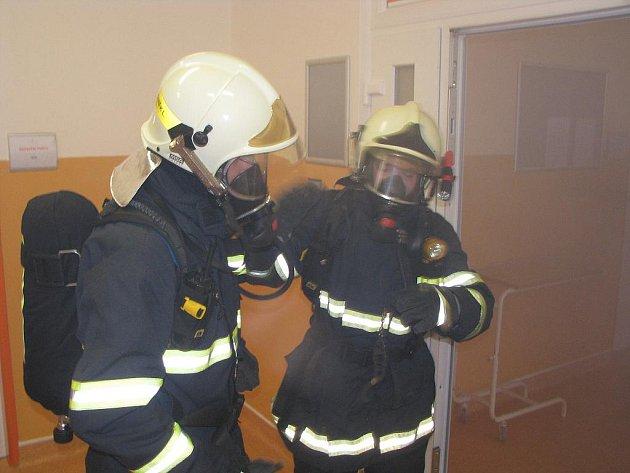 Požární cvičení v havířovské nemocnici