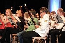 Společné vystoupení havířovských a švédských muzikantů.
