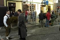 Na karvinském Masarykově náměstí rozbalili svůj stan polští filmaři, kteří tam natáčejí scény do filmu s názvem Yuma