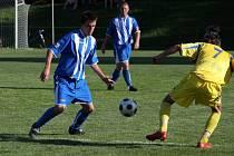 Bohumínští fotbalisté (v pruhovaných dresech) předvedli doma snaživý výkon, ale bez střelecké produktivity.