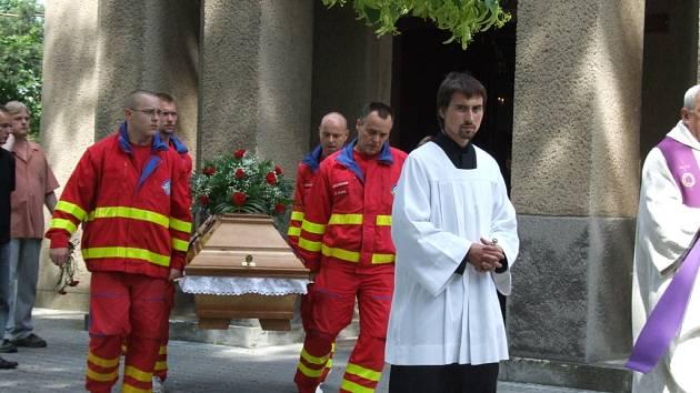 Záchranáři se rozloučili se svým kolegou Martinem Svobodou