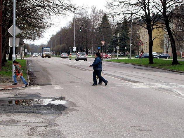 Nevýrazný přechod pro chodce