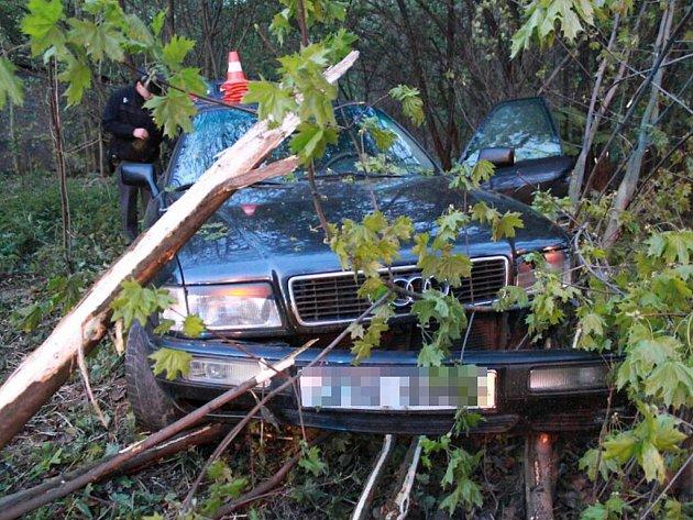 Havárie pronásledovaného vozu