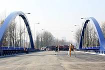 Nový most přes Olši na Ostravské ulici v Karviné