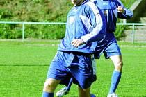 Jarmil Kopel, jediný střelec orlovského mužstva v dohrávce s Frenštátem.