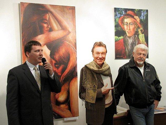 Vernisáž výstavy reprodukcí obrazů Karla Gotta