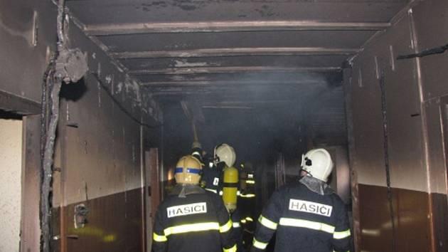 Požár v Horní Suché