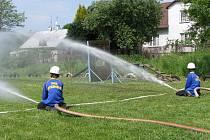 Soutěž dětí v požárním útoku
