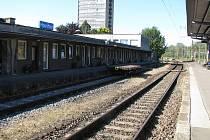 Pohled z peronu havířovského valkového nádraží