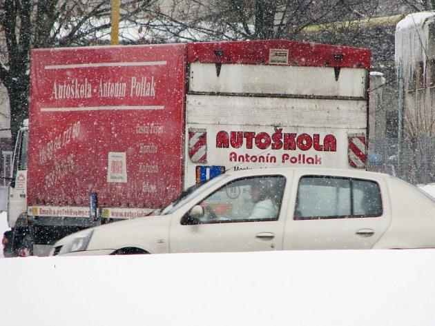 Autoškola v zimě